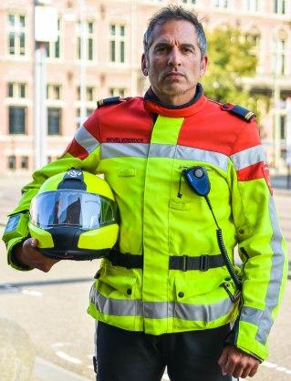 Stoere brandweerman
